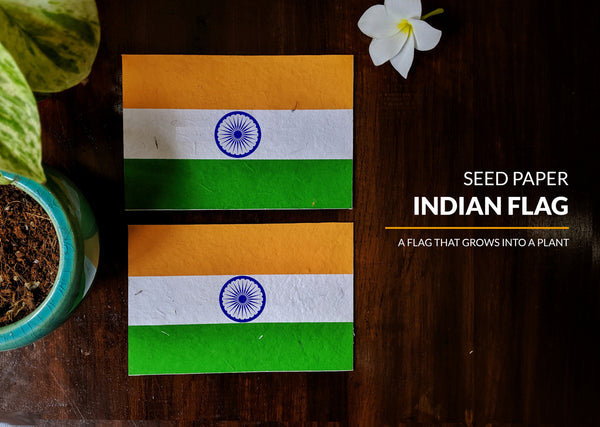 Plantable Seed Paper Indian Flag - Pack of 50
