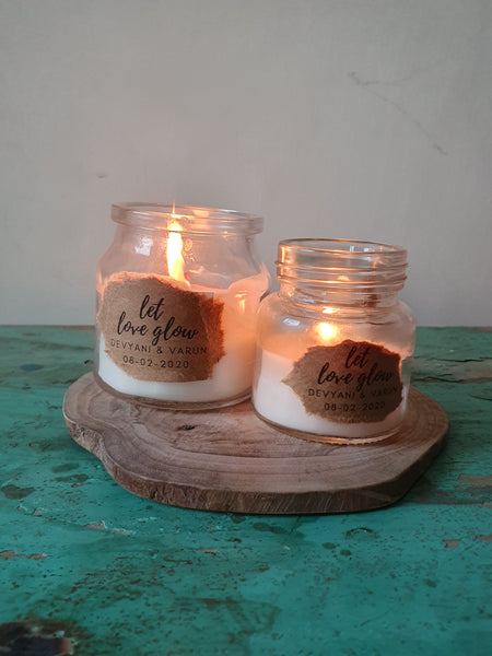 Customised Candles for Weddings
