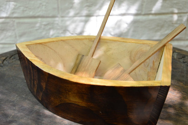 Boat Serving Bowl & Oar Spatula