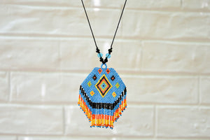 Russian Weave Necklace | Blue