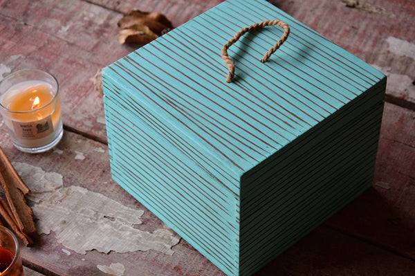 Vintage Wooden Box | Green
