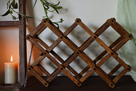Portable Wooden Wine Rack