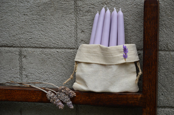 Lavender Hand Dipped Candles