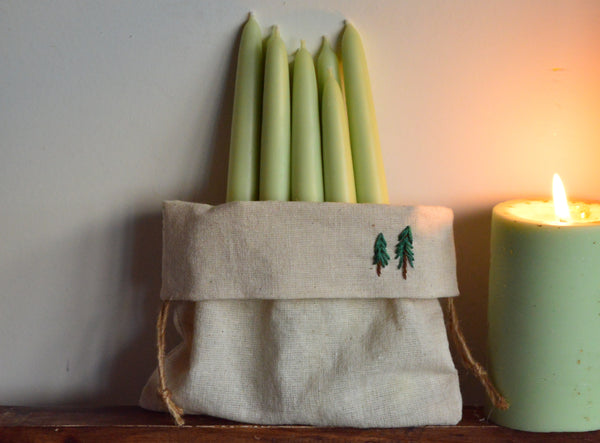 Foresty Hand Dipped Candles