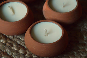 Terracotta Soy Tea Lights | Rose