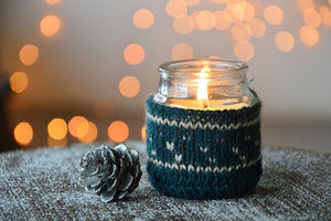 Dark Blue Sweater Candle | Woody Fragrance