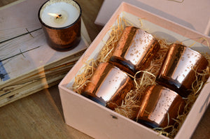 Copper Votives Gift Box