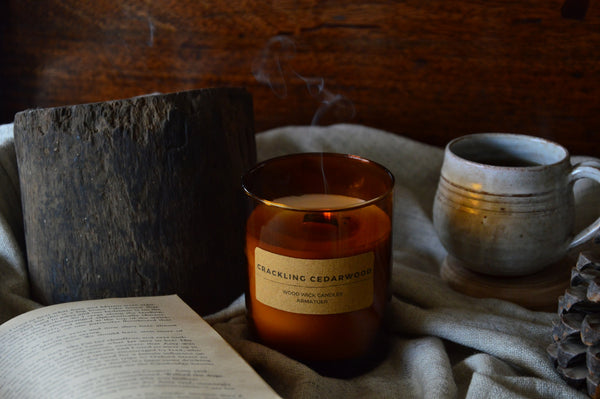 Crackling Cedarwood | Wood Wick Candle Votive