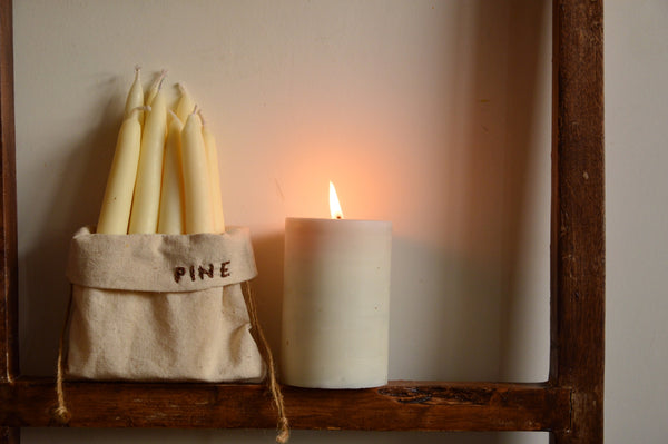 Pine Hand Dipped Candles