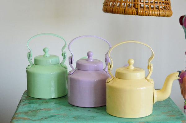 Kettle Planter | Pastel Yellow