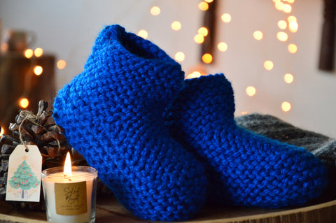 Blue Booties & Bed Socks | Woven Stories