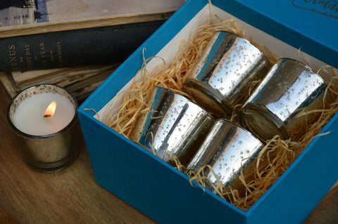 Silver Votives Gift Box