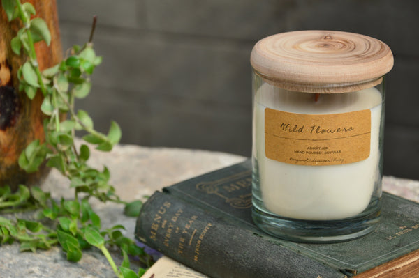 Wild Flowers | Wood Wick Candle Votive
