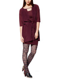 Hattie Bordeaux dress