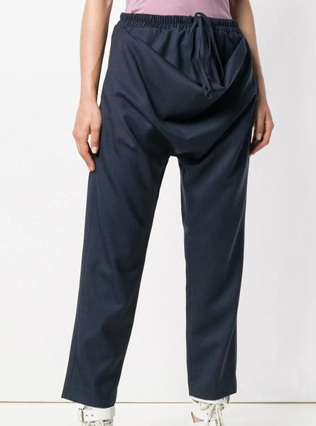 cropped drawstring trousers