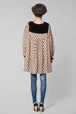 Bruce wife beige shell print dress