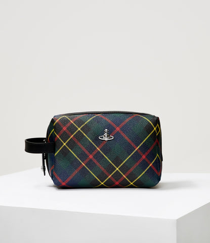DERBY BEAUTY CASE HUNTING TARTAN