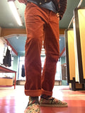 NÄVÏA - Chinos or Japons rustic red