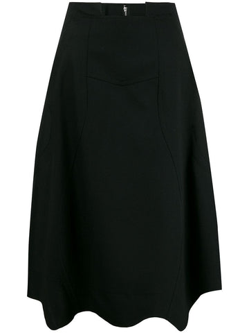 A-line asymmetric skirt