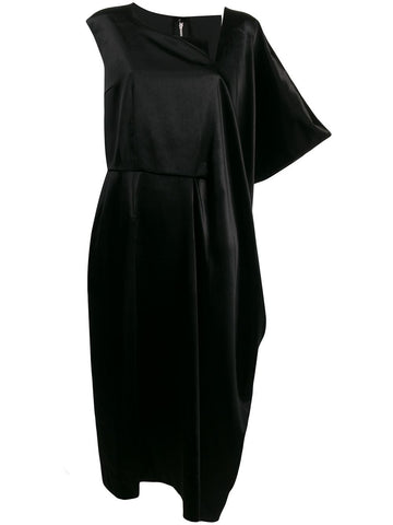 asymmetric sleeve dress