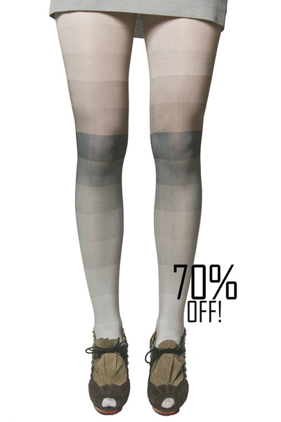 Color block tights Grey