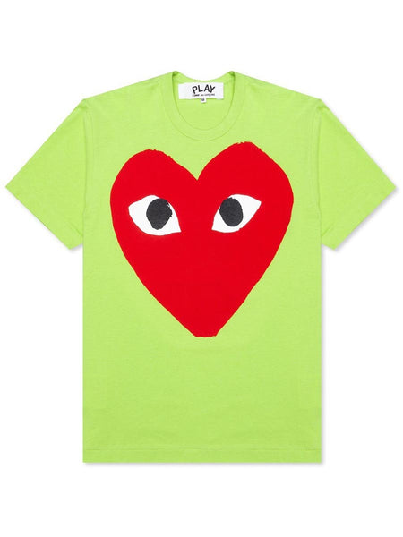 PLAY PASTELLE RED LOGO T-SHIRT GREEN