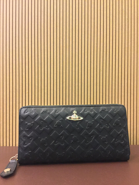 Harrow Zip-around Purse Black in Black