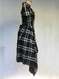 Tartan Asymmetric Dress