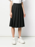 frayed waist pleated skirt