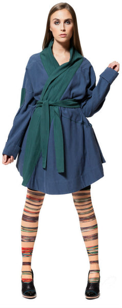Garbo coat blue