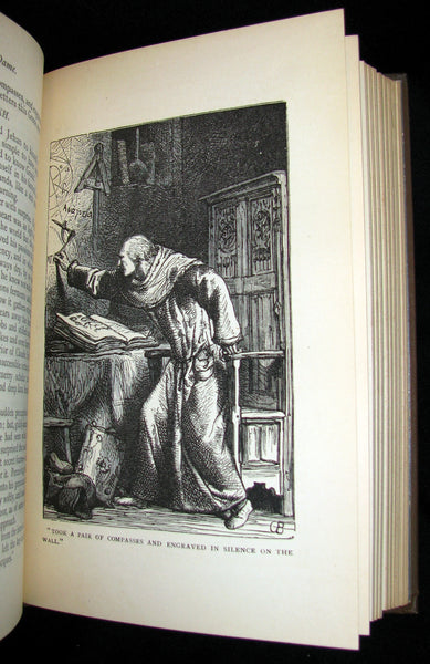 1890 Rare Victorian Book - Notre-Dame or The Bellringer of Paris by Victor Hugo. Gothic.
