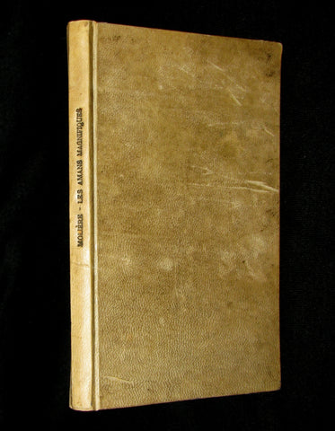 1689 Rare French Vellum Book - Magnificent Lovers - Les Amans Magnifiques by MOLIERE