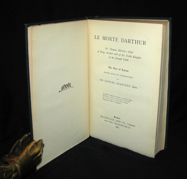 1897 Rare Book - Le Morte Darthur - King Arthur and of His Noble Knights of the Round Table