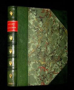 1895 Scarce Book - Exquisite binding - English Fairy Tales by Joseph Jacobs illustrated