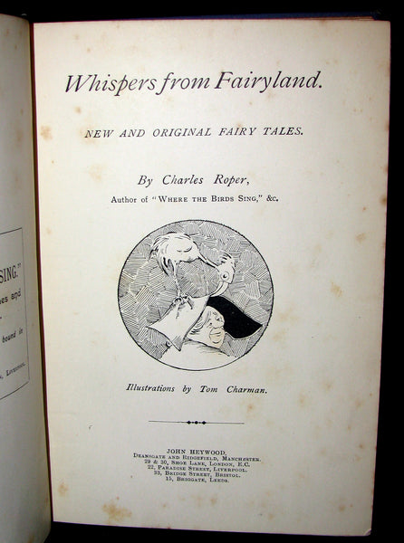 1890 Scarce Victorian Book - WHISPERS from the FAIRYLAND by Charles Roper