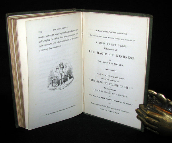 1847 Scarce Book - The Good Genius that Turned Everything into Gold; A Fairy Tale.  1stED.