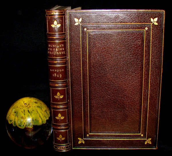1849 Rare Francis Bedford Binding - The Pilgrim's Progress by John Bunyan.