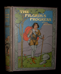 1900 Rare Victorian Book - The Pilgrim's Progress by John Bunyan illustrated by W. Paget