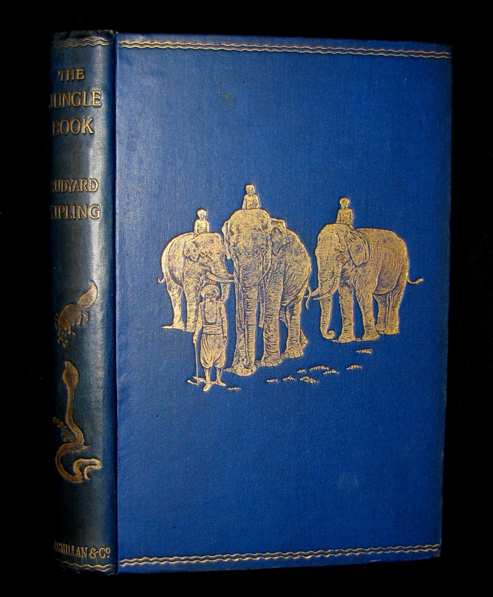 1895 Rare Book - The Jungle Book by Rudyard Kipling -  First Edition, 3rd Printing