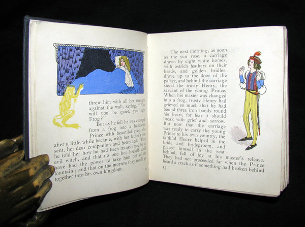 1905 Rare COLOR illustrated Book ~ Grimm's Fairy Tales Illustrated by Gilbert James.