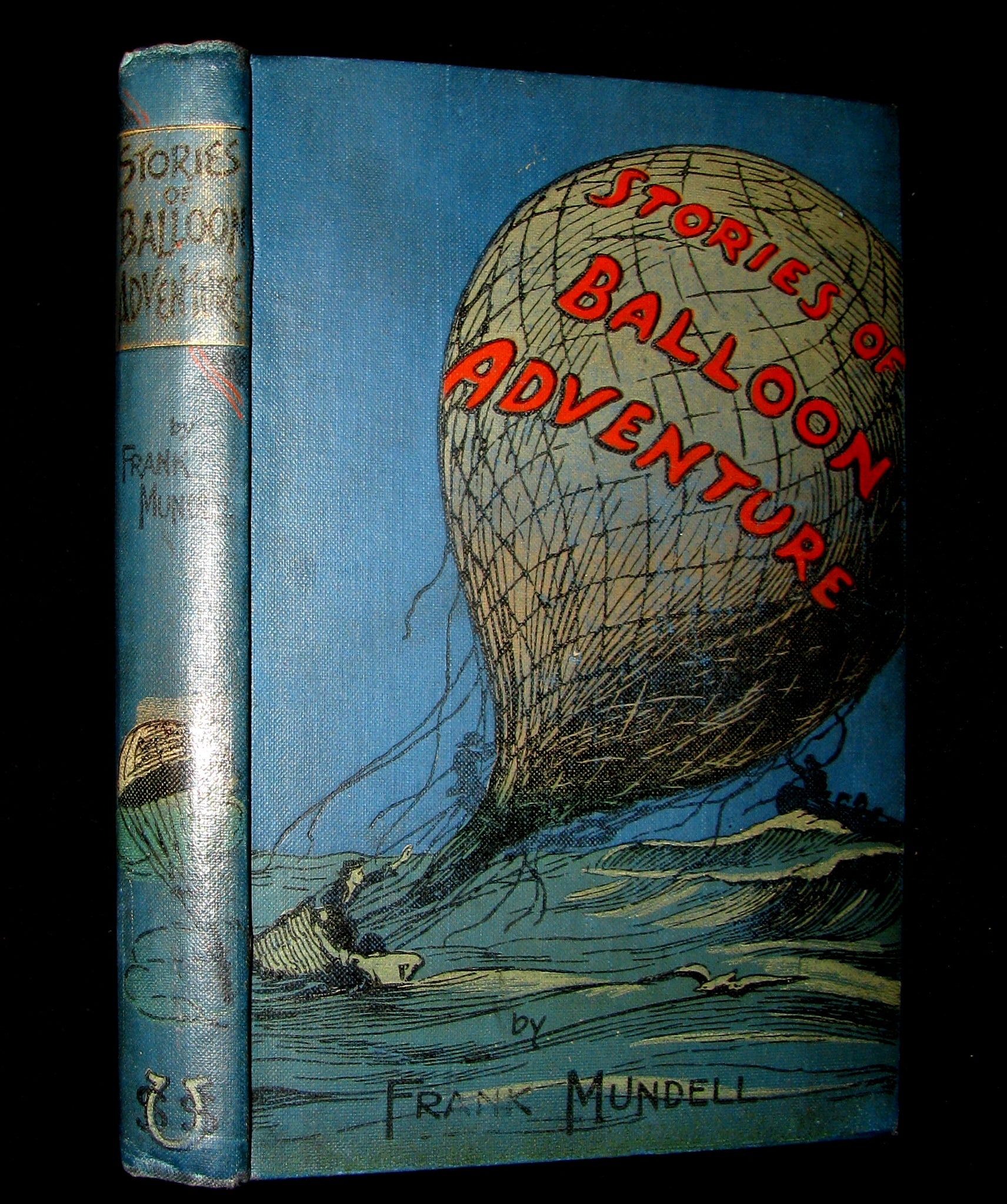 1899 Scarce Victorian Book -Stories of Balloon Adventure by  Frank Mundell