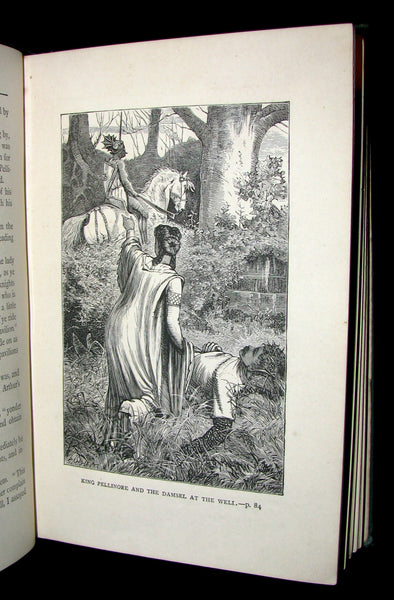 1884 Scarce First Edition Book - King Arthur and His Knights of the Round Table by H. Frith