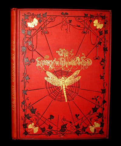 1879 Rare Victorian Book - The Story Without An End by Sarah Austin Illustrated by Eleanor Vere Boyle