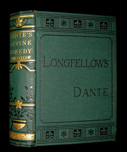 1890 Rare Victorian Book - THE DIVINE COMEDY OF DANTE ALIGHIERI by Longfellow