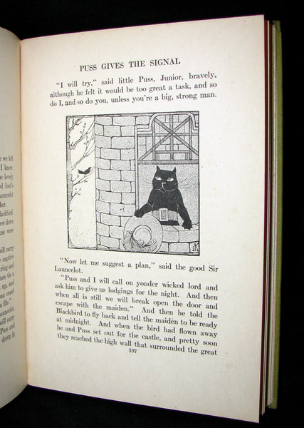1918 Rare First Edition - Puss in Boots, Jr. In Fairyland: Twilight Tales by David Cory