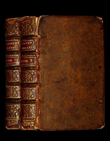 1567 Scarce Greek-Latin Book set - Homer's Odyssey - Odyssea - First 18th books in 2 of 3 Volumes