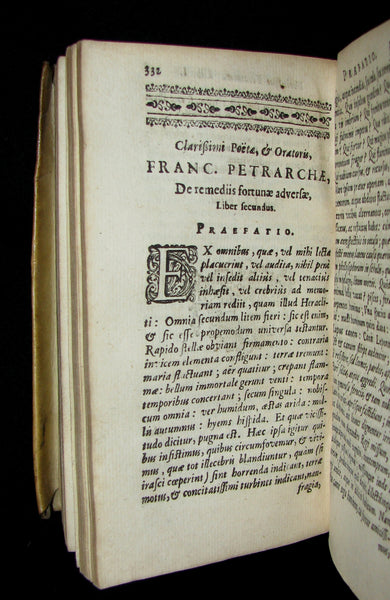 1649 Rare Book - Petrarch's Remedies for Fortune Fair and Foul (De remediis utriusque fortunae) with De Contemptu Mundi