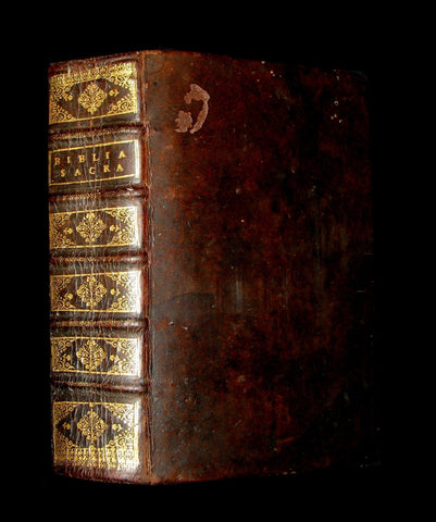 1676 Rare Latin Bible - Biblia Sacra Vulgatae Editionis -  Holy Bible published in Lyons