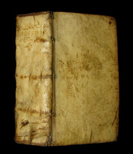 1630 Rare Latin Vellum Book - Scottish writer Io. Barclaii ARGENIS. Editio novissima by Elzevir.