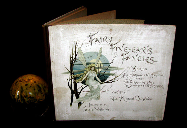 1880 Scarce Victorian Book - Fairy Fine-Ear's Fancies by Helen Marion Burnside